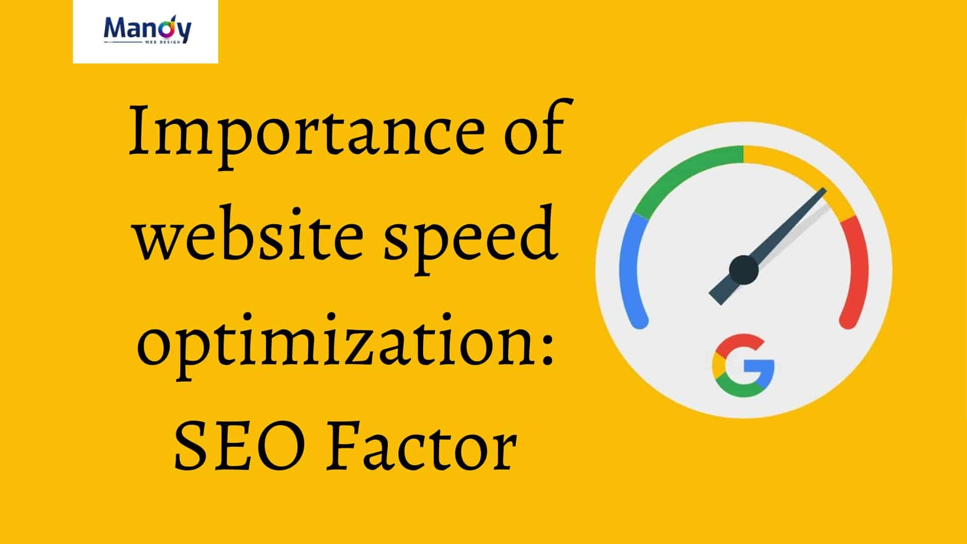 Web Speed Importance - Mandy Web Design